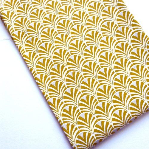Tissu au mètre coton japonais motifs éventails