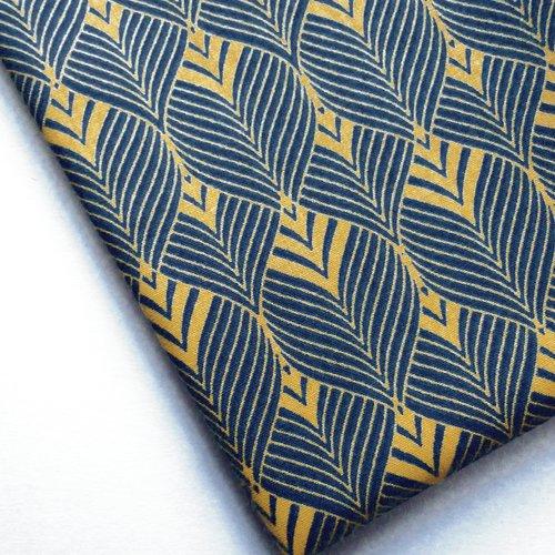 Tissu au mètre coton motifs style art deco vintage