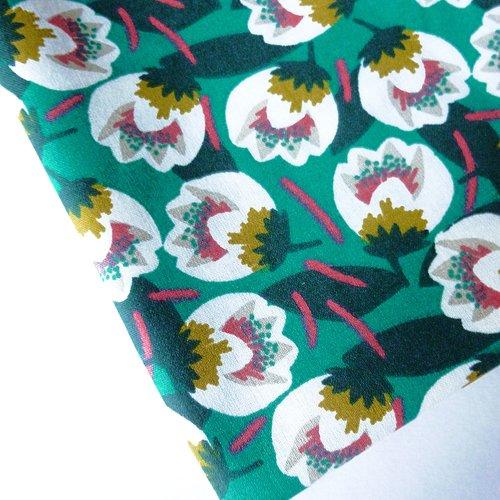 Tissu au mètre coton motifs fleurs