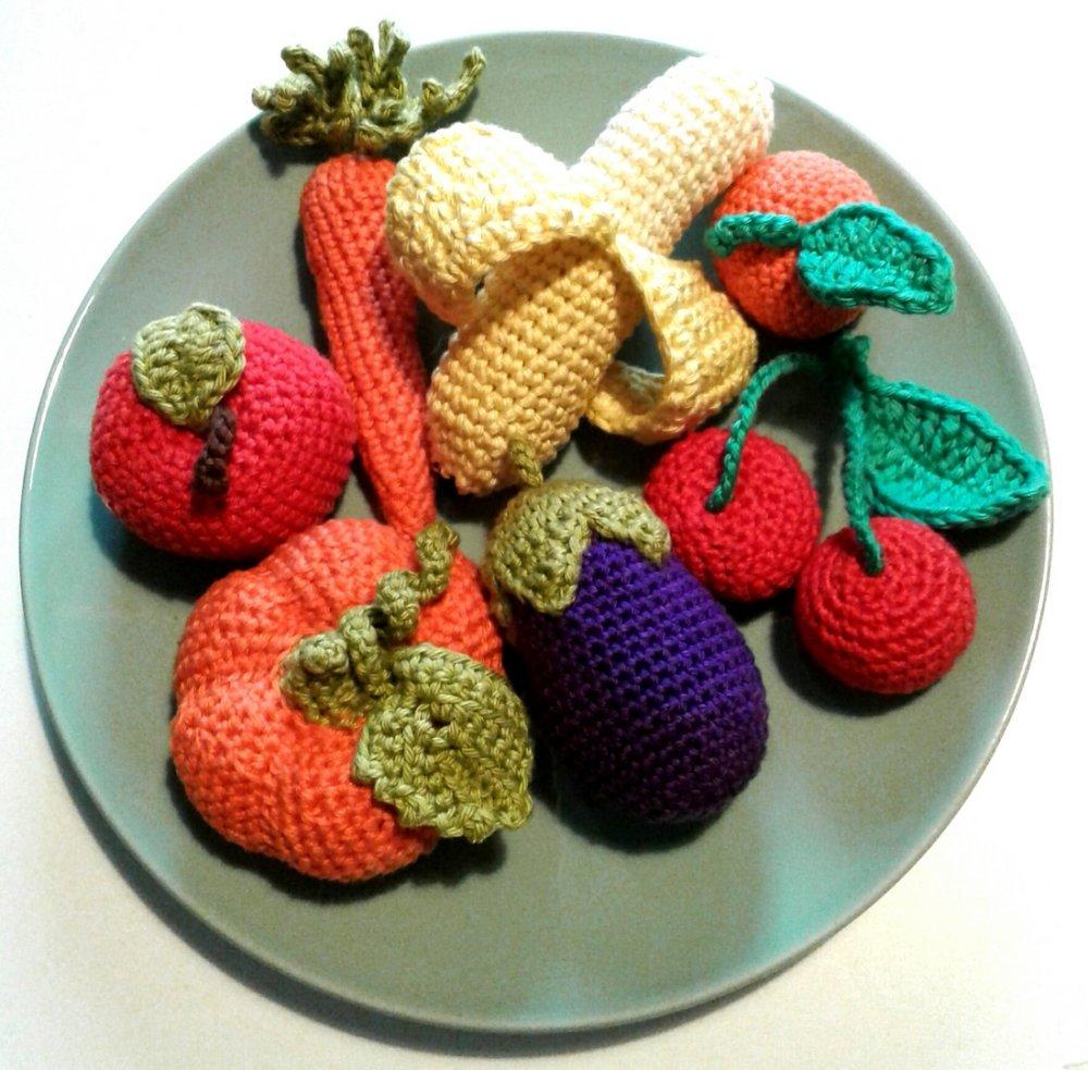 Aubergine au crochet