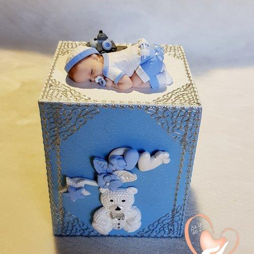Tirelire bébé garçon - au coeur des arts