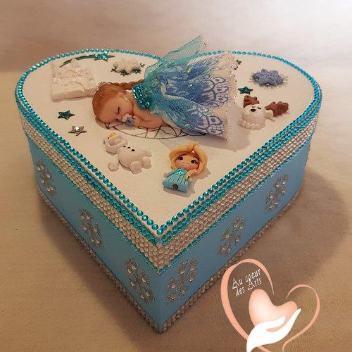 Boîte de naissance bébé fille reine des neiges - au coeur de arts