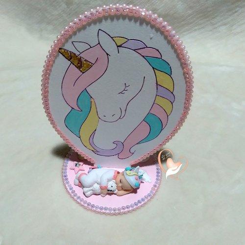 Plaque de naissance licorne - au cœur des arts
