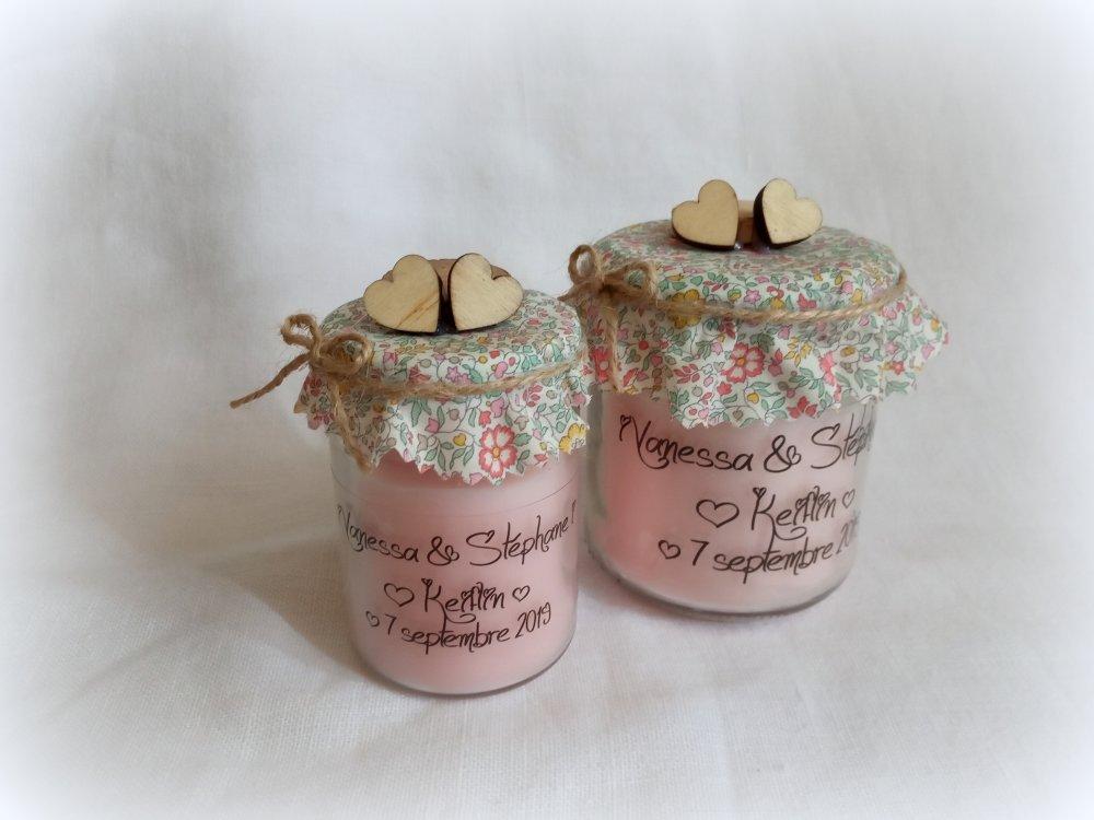 10 petites Bougies cadeaux d'invités, personnalisables