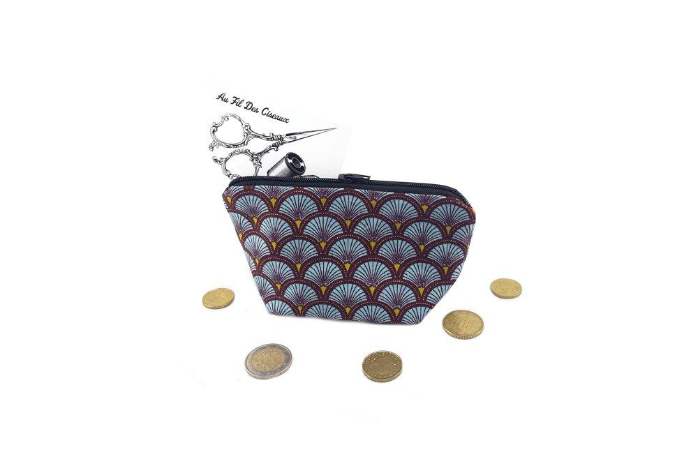 Porte monnaie - Le paon bordeaux