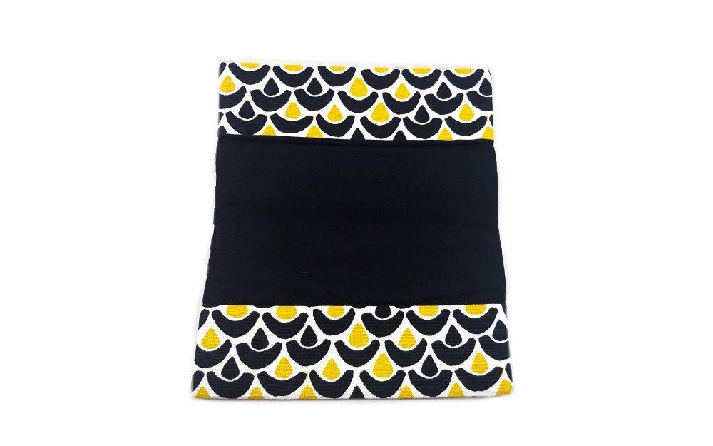 Porte chéquier en coton  - Les bateaux jaunes