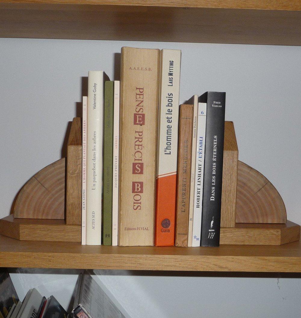 Presse-livres chêne et frêne massif