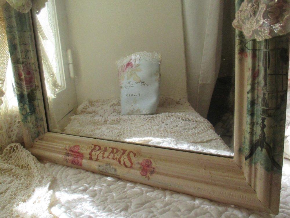 """Miroir ancien """" Shabby Chic """" - Création - Au grenier cosy -"""