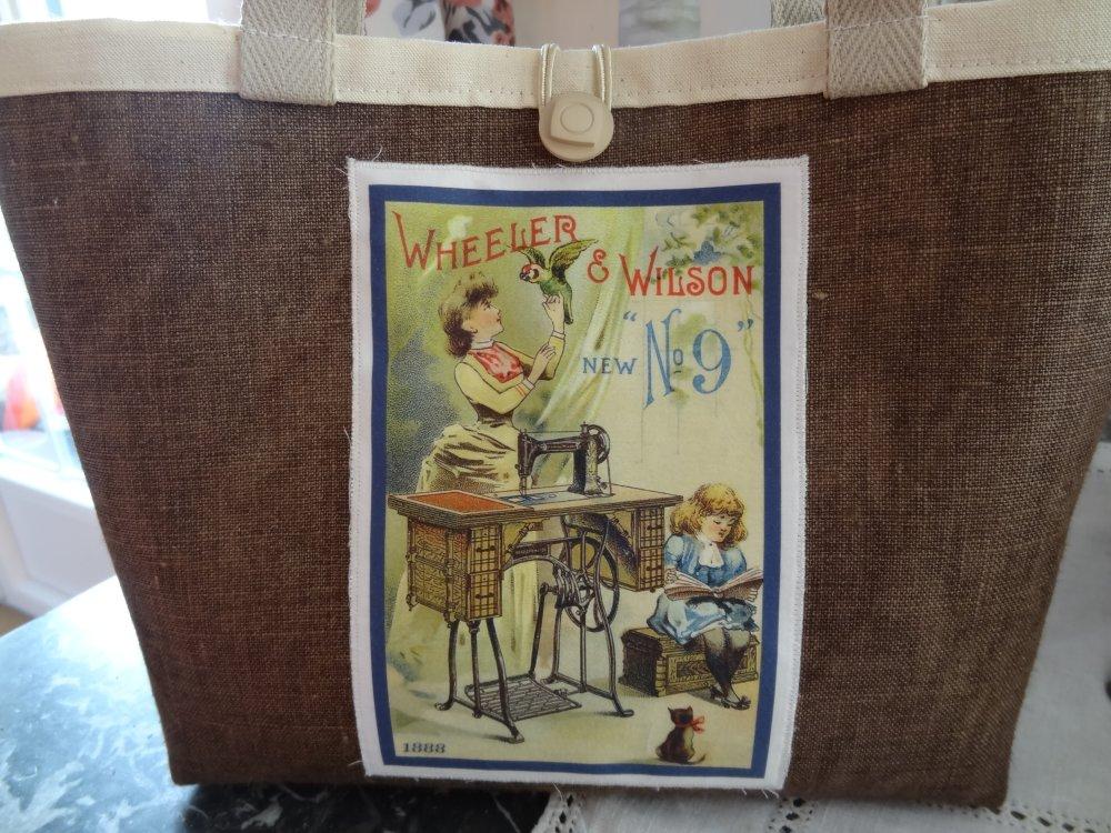Panier Vide-poches avec vignette Rétro Wheeler and Wilson