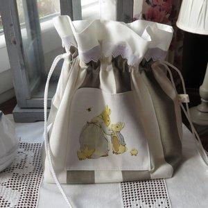 Beatrix Potter Peter Le Lapin Mini Blanc Sac Fourre-tout