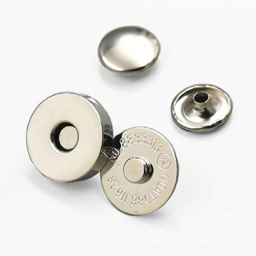 Bouton aimant,14 mm ou 18 mm,fermoir Couleur nickelé Lot 10