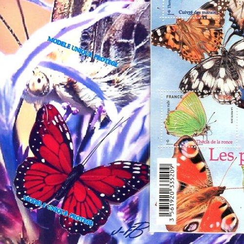 Nature Les Papillons Avec Film Iridescent