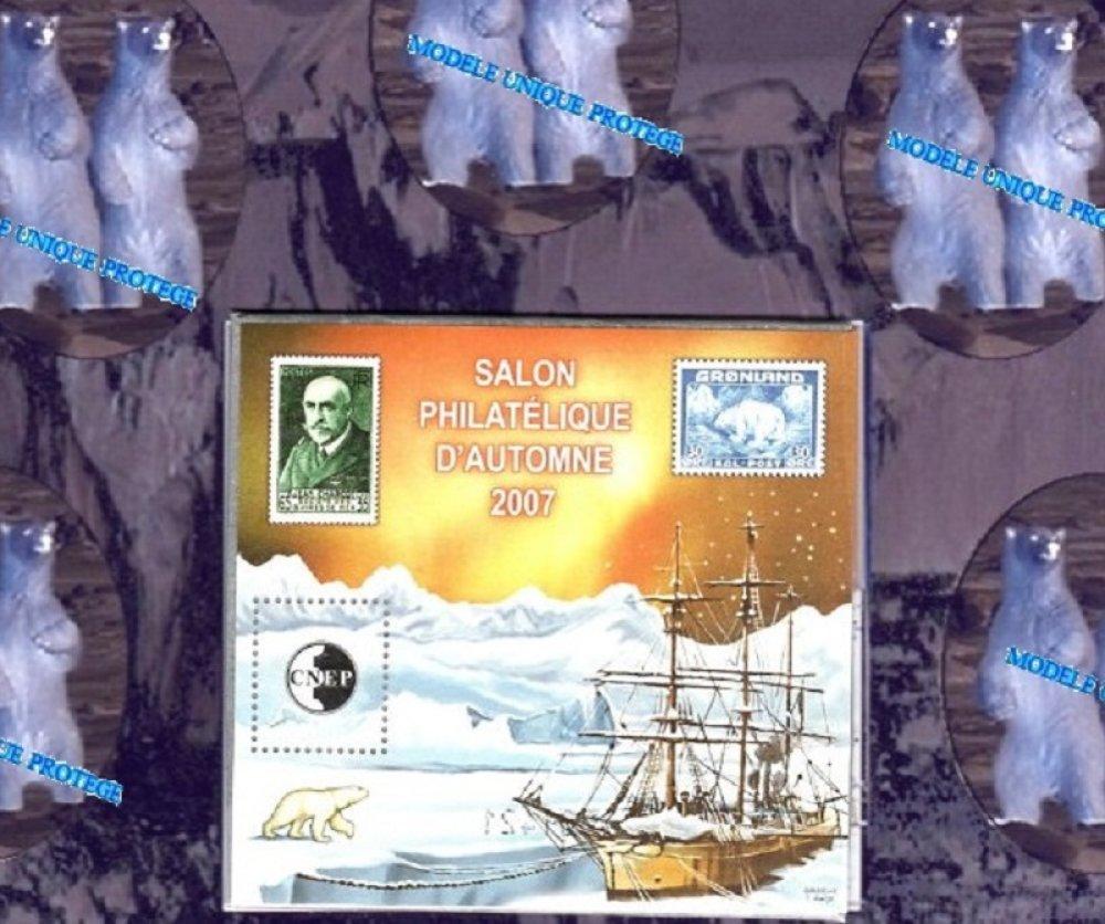 Jean-Baptiste Charcot, impression A4 sur papier photo illustrée par des timbres.