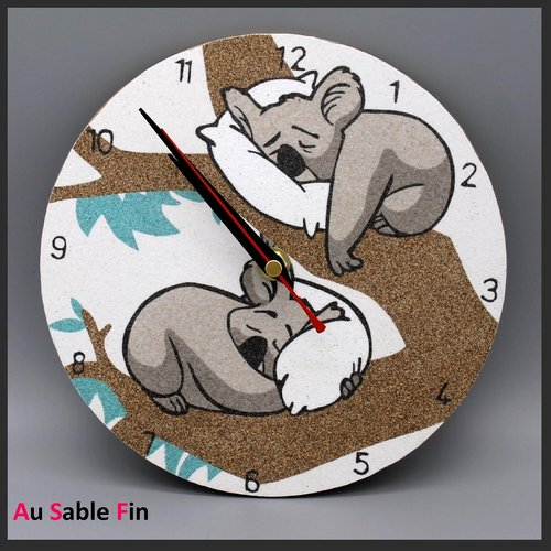 Horloge en sable - koalas