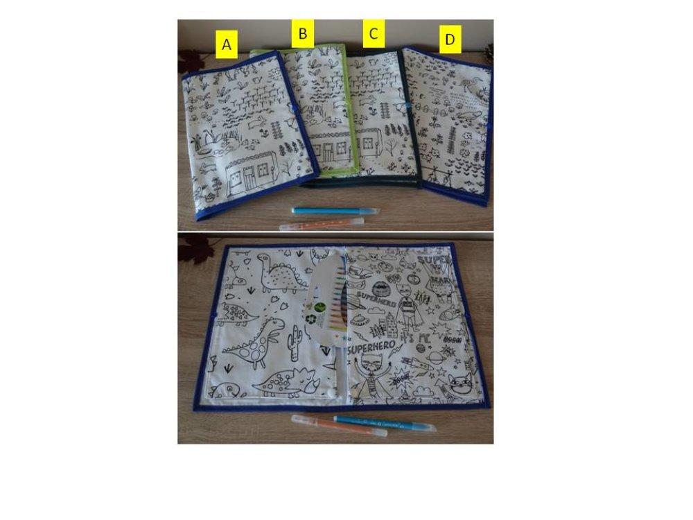 Livre De Coloriage Lavable Garcon Format A4 Un Grand Marche