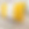 Portefeuille femme jaune et blanc