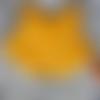 Doudou renard jaune, jouet premier âge