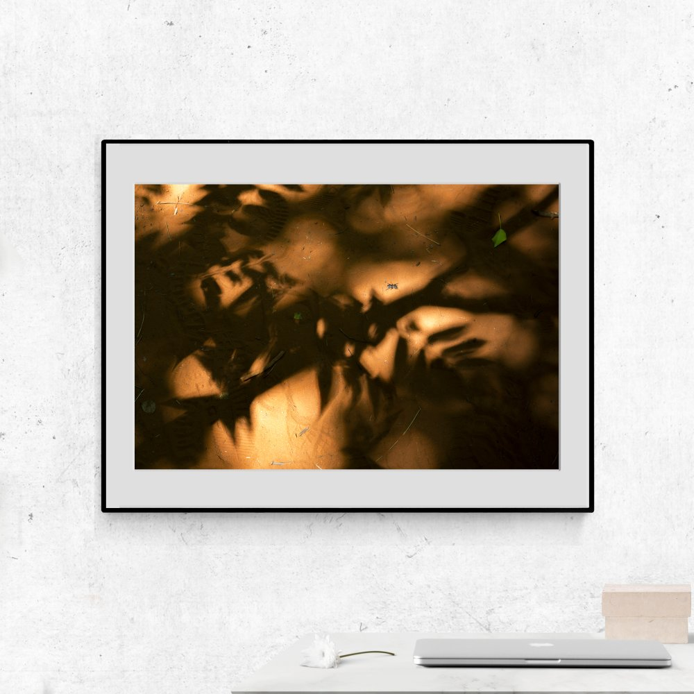 Ombres sur ocre,21x30cm. Photographie d'art.Impression jet d'encre sur papier Canson qualité musée