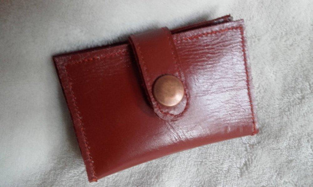 Étui porte- cartes homme en cuir marron