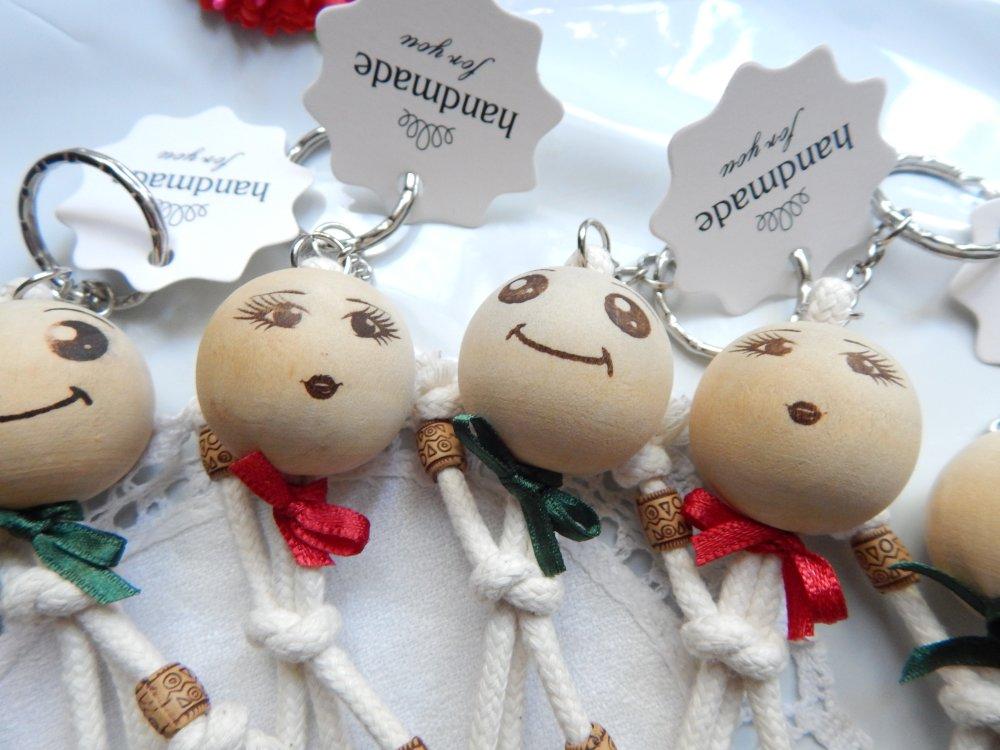 Marque place, lot de six figurines décoratives, Cadeaux convives,