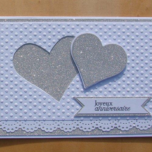 Carte st valentin, anniversaire de mariage, félicitations,