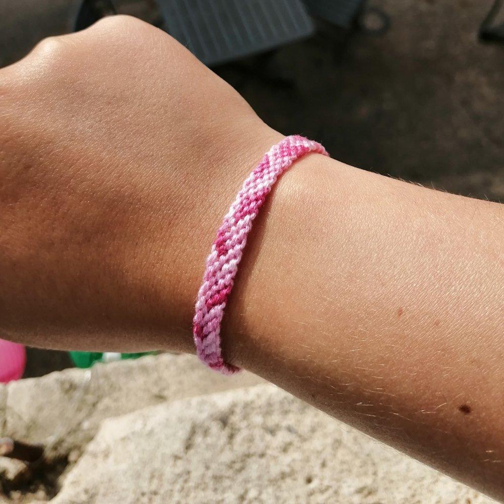 Bracelet Brésilien Rose Indien