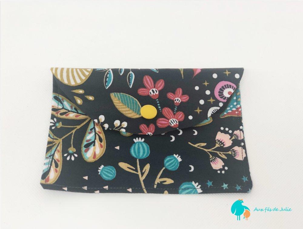 Pochette à savon ou shampoing solide motif fleurs