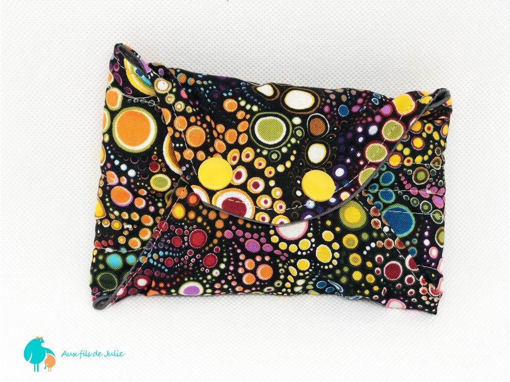 serviette hygiénique lavable flux abondant/ de nuit motif bulles multicolores