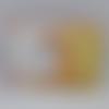 """Trousse plate """"licorne jaune"""""""