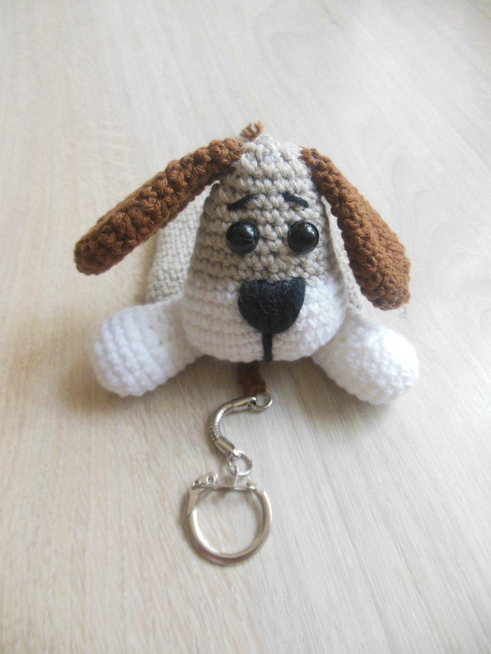 VENDU étui porte-clés tête de chien