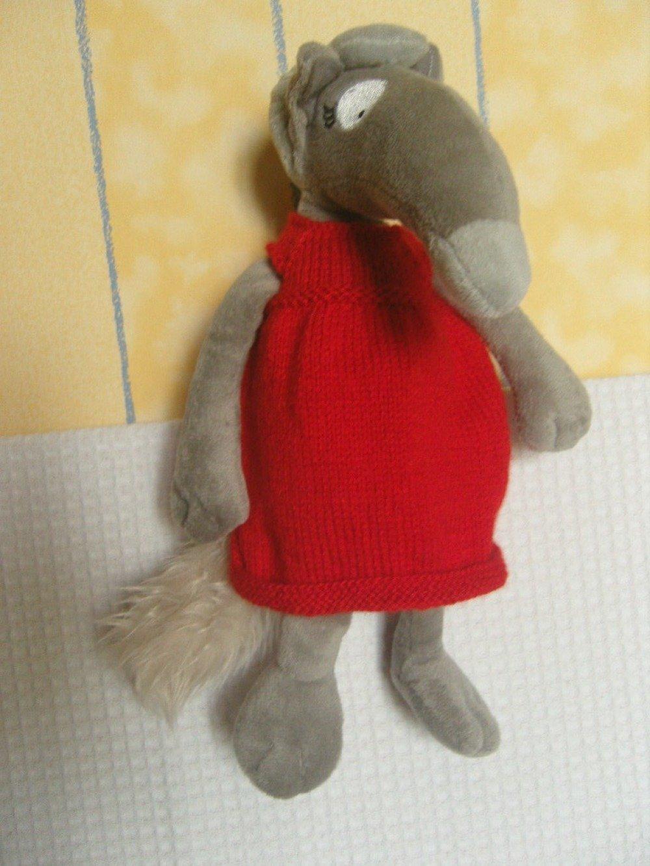 Vêtement pour la louve Auzou, P'tit loup, peluche du loup qui voulait....