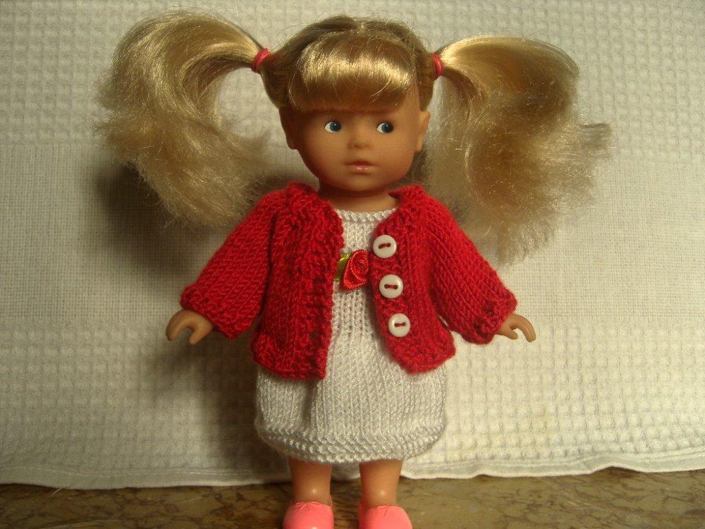 Robe et veste pour poupée 20 cm, mini corolline.