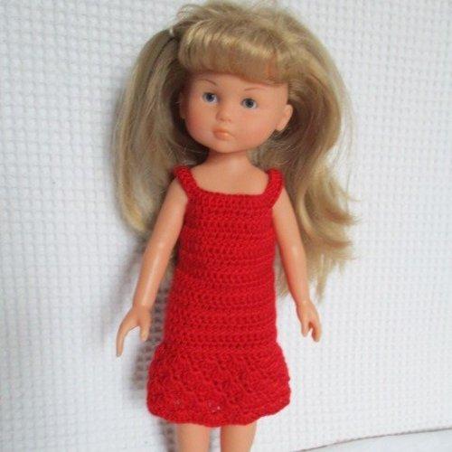 Vêtement pour poupée chéries de corolle, robe rouge