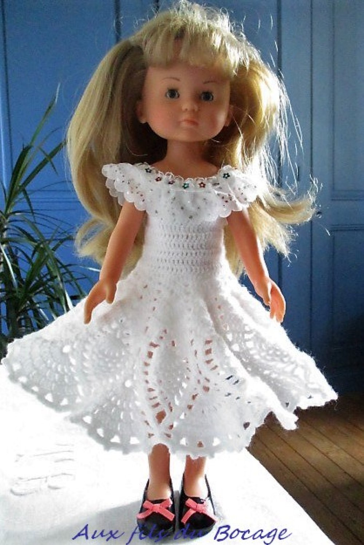 Robe pour poupée les Chéries, Paola Reina au crochet.
