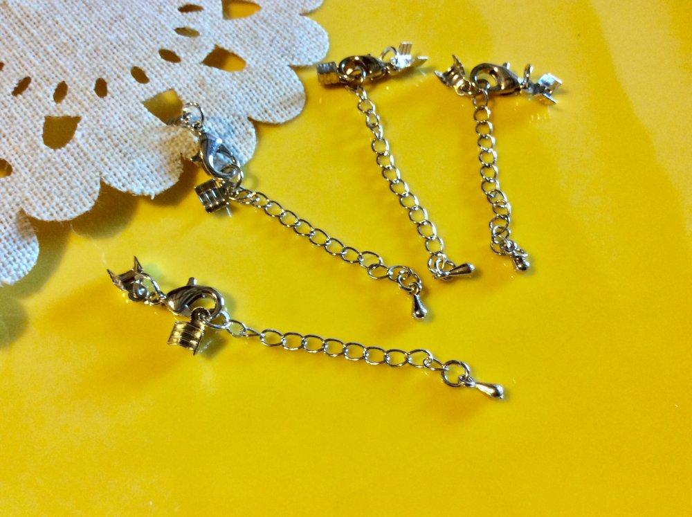 fermoirs mousqueton ,chainette