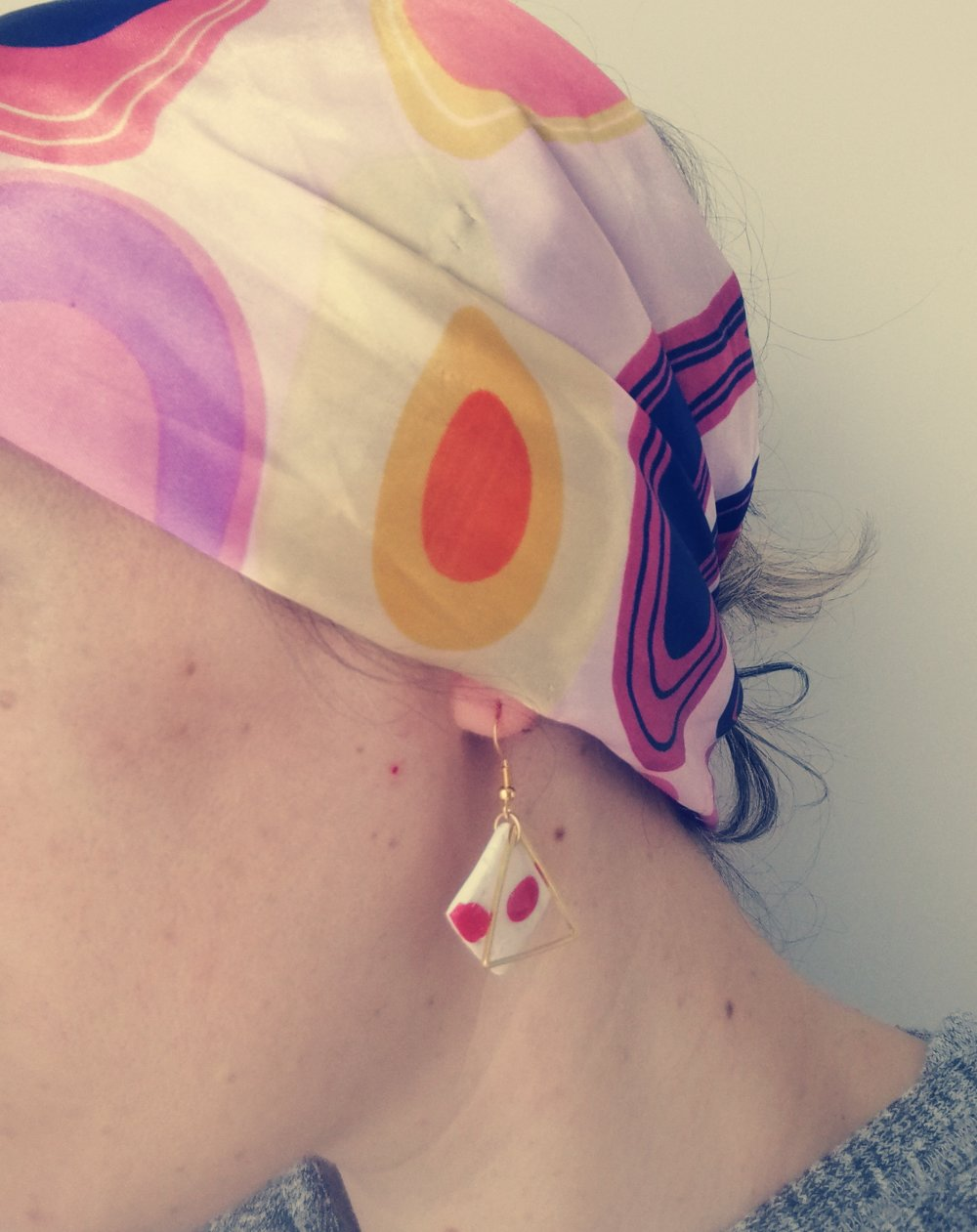 Boucles d'oreilles carré et triangle