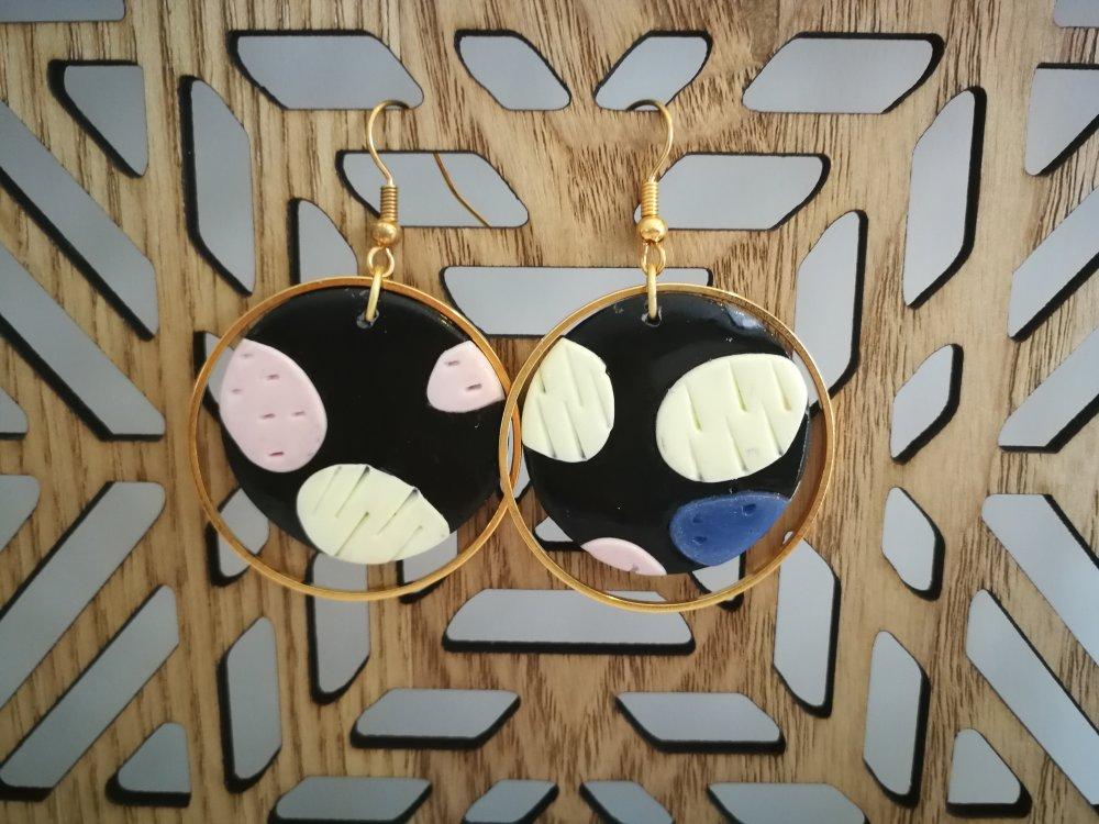 Boucles d'oreilles Adela anneau