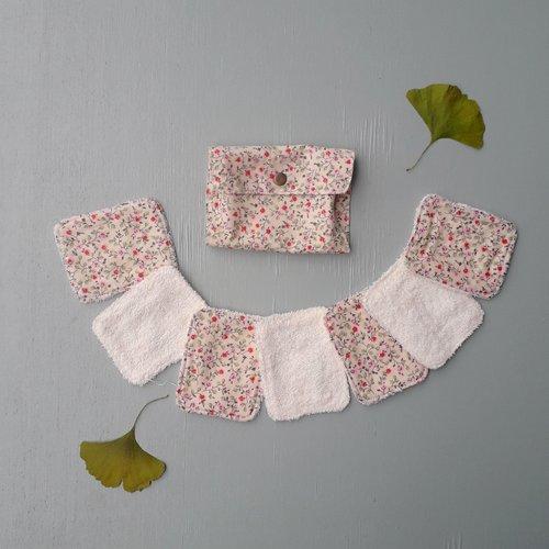 Lingettes lavables rectangle en éponge