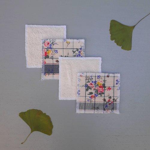 Lingettes lavables carrée en éponge