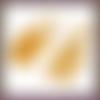 100 embouts à pincer 8 x 3.5 mm doré