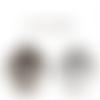 10 breloques médaillon arbre de vie mixte