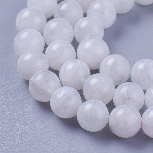 50 perles en pierre de lune 8 mm, grade ab