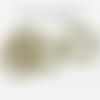 100 anneaux de jonction bronze 10 x 1.5 mm