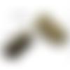 50 fermoirs griffe à pincer 13 mm bronze
