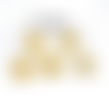 100 perles intercalaires dorées 3 mm