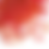 80 grammes perles de rocaille en verre 2 mm rouge