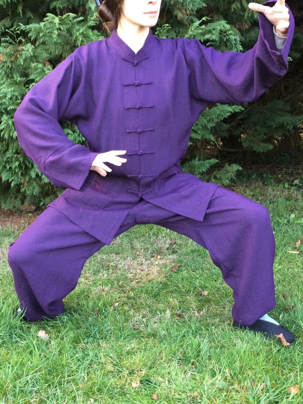 Vêtements Tai Chi Chuan, Qi Gong, Kung Fu. Ensemble violet