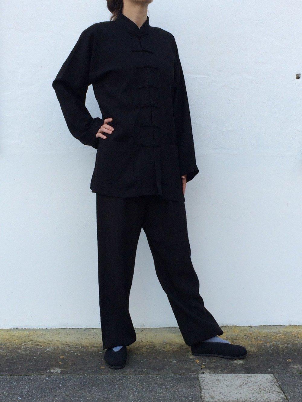 Vêtements Tai Chi Chuan, Qi Gong, Kung Fu, ensemble noir, mixte