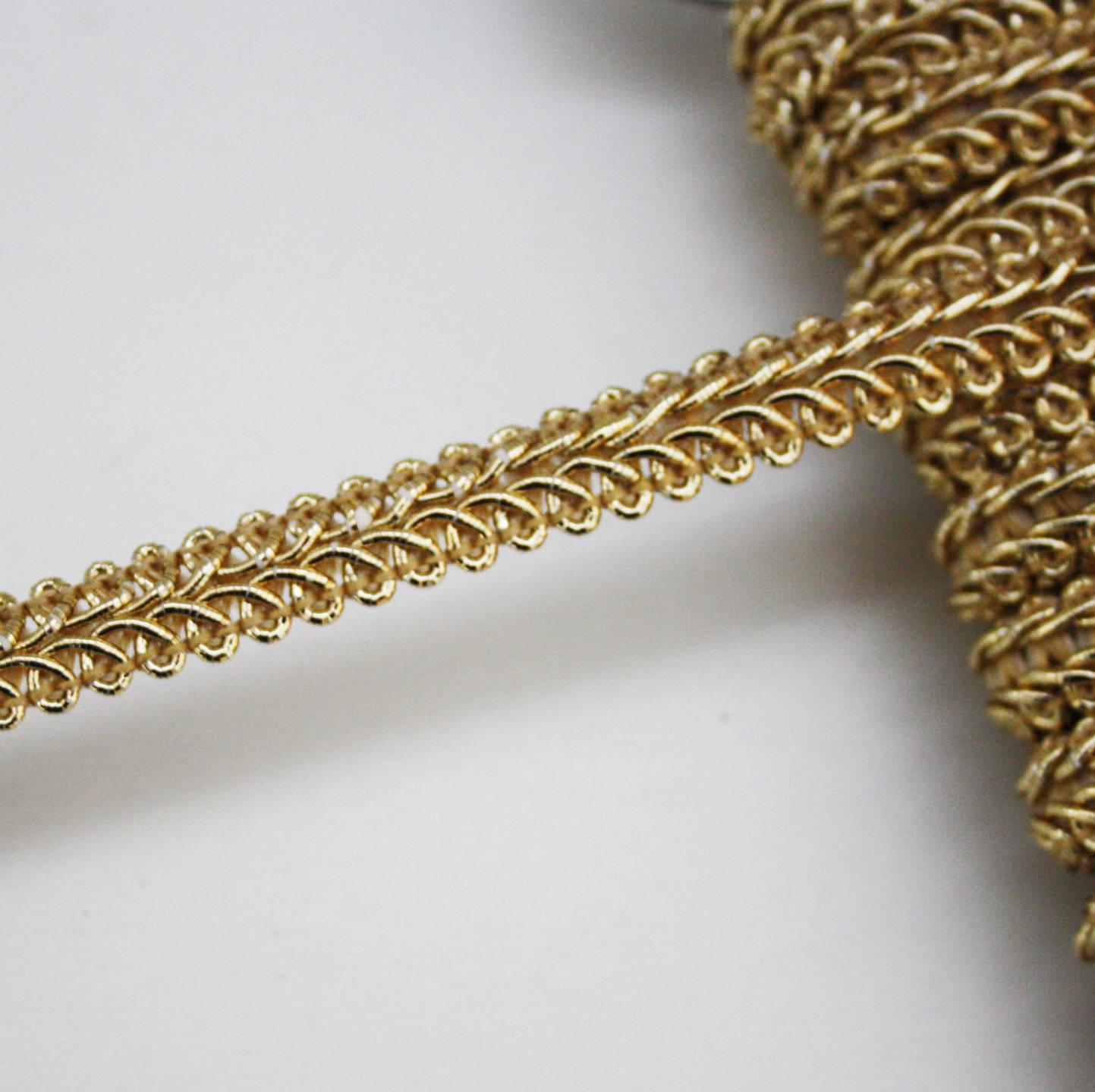 Galon doré 10 mm, galon de passementerie, 1 m, ruban doré
