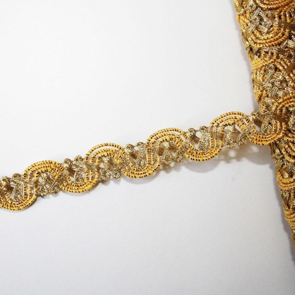 Galon doré 15 mm, galon de passementerie, 1 m, ruban doré